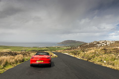 Mamore Gap Rear (syf22) Tags: car automobile auto autocar automotor motor motorcar motorised porsche porscheclubgb porscheboxster 981s boxster981s red guardsred softtop convertible sportscar germanmade madeingermany mamoregap wildatlanticway eire ireland scenic viewpoint drive route rear back backside tail tailgate ass arse behind