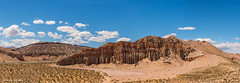 A view to Red Rock (Photosuze) Tags: panorama landscape redrockcanyonstatepark california rocks formations geology clouds vegetation desert