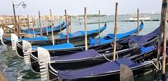 Slow Traffic (Helenɑ) Tags: watertransport gondola venetianlagoon venice veneza italia italy