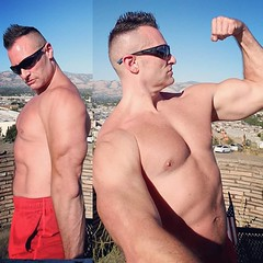 flex (ddman_70) Tags: shirtless pecs abs muscle biceps triceps flexing