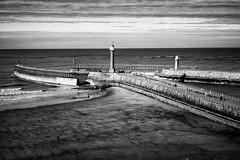 Pier (Rich Presswood) Tags: fuji fujixpro2 mono monochrome mirrorless fujix bw blackandwhite black white whitby eastcoast seaside silverefexpro2 adobelightroom 7artisans 35mmf12