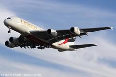 A6-EUR (renanfrancisco) Tags: emirates emiratesairlines ek uae airbus a380 a380800 a388 airbusa380 airbusa380800 a6eur landing pouso gru sbgr gruairport guarulhosairport spotting airport aeroporto aeropuerto airlines