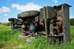 DSC_0018-01 (Stéphane Piegle) Tags: urbex exploration camion truck épave char militaire abandonné armée