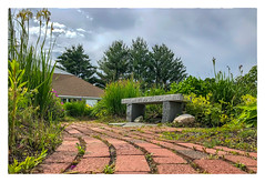 Down the Garden Path... (Timothy Valentine) Tags: 2018 flowers church bench monday garden pathway large communitycovenant 0618 eastbridgewater massachusetts unitedstates us