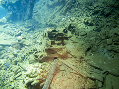 Fin assembly of bombs, Umbria wreck, Port Sudan (sharksfin) Tags: umbria sudan redsea rotesmeer deepsouth ocean sea marine wreck life wild diving marinelife meer reef coral riff