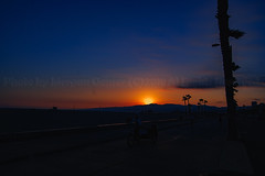 03 (morgan@morgangenser.com) Tags: sunset red orangeyellow blue pretty cloud silhouette sun evening dusk palmtrees bikepath sand beach santamonica pacificpalisades beautiful black dark cement amazing gorgeous inawe ca