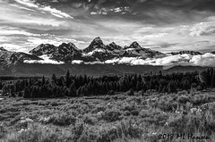 Tetons (MarvHansen) Tags: tetons wyoming bw mountains