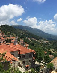 Towers and rooftops (grecophile_1) Tags: greece peloponnese dimitsana village view tower roof