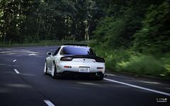 Tim's Mazda FD3S RX-7 (jonlai.photo) Tags: mazda rx7 rotary sportscar tuner import white race car touge driving road rolling turbo
