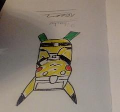 Pikachu (Scuba Diving) (Alemway) Tags: pokemon pikachu scubadiving pokemonfan videogames manga anime traditionalart art artistic cartoonstyle colourful pencil animefan cute kawaii