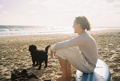 (homesickATLien) Tags: 35mm film art kodak analog expired mjuiii olympus victoria australia travel beach summer current sunset light breath cavoodle dog ruminate nature
