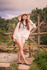 Out at the Tegalalang Rice Terrace (SemiXposed) Tags: tegalalang rice terrace bali ubud indonesia girl outdoors afternoon sony hat chinese asian travel holidays vacation destination