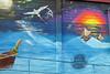 E Ola Mau (BarryFackler) Tags: melemurals murals art painting streetart kainaliu hawaii bigisland sun moon sea ocean fish birds voyagingcanoe waves railing clouds stars structure hawaiiisland hawaiicounty sandwichislands westhawaii kainaliuhi polynesia tropical kona northkona 2018 hawaiianislands barryfackler barronfackler wall