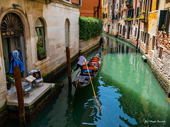 Venice (Magda Banach) Tags: canal canon canoneos5dmarkiv italy wenecja włochy architecture blue buildings city colors gondola outdoor outside venice view venezia veneto it bluedress