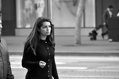 6-19 Candids 16 (TheseusPhoto) Tags: blancoynegro blackandwhite monochrome monotone noir people streetphotography street candid sanfrancisco marketstreet city citylife woman girl pretty smile face streetportrait