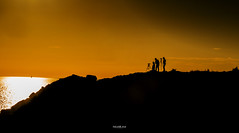 Sunset Seekers (Mark Palombella Hart) Tags: cymru landscape seashore sunset sky