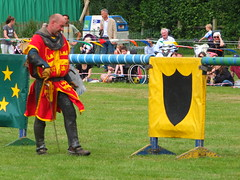 DSCF3797 (SierPinskiA) Tags: ruffordabbeycountrypark rufford knightsofnottingham fujixs1 jousting medieval horse knights goldeneagle falcon
