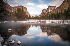 Blue Hour! Fine Art Yosemite National Park Winter Snow Landscape Photography! Valley View Merced River! Sony A7R II Mirrorless & Carl Zeiss Vario-Tessar T* FE 16-35mm f/4 ZA OSS Lens SEL1635Z! Scenic Yosemite California Sunset, Dusk, & Blue Hour! (45SURF Hero's Odyssey Mythology Landscapes & Godde) Tags: dusk bluehour