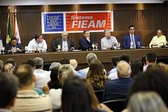 21.06.2018 - Prefeito Arthur Neto cumpre agenda com Senador Álvaro Dias na 8ª reunião Ordinária da FIEAM