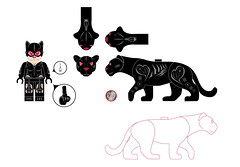 June update (Bel's Minifigure) Tags: lego custom minifigure bels bel figure catwoman dc