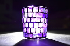 Theatrical Refraction (Robin Shepperson) Tags: d3400 nikon glass refraction colours light berlin germany theatre macro pink purple stained