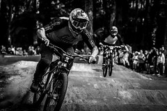 Inaugural Winner (Jeremy J Saunders) Tags: sport redbull dualslalom race blackandwhite jeremyjsaunders d500 nikon newzealand rotorua crankworx