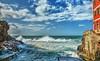 Mareggiata (giannipiras555) Tags: nuvole liguria rocce scoglio