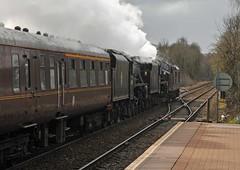 Going away (jlw0414) Tags: maryhillstation maryhill glasgow scotland unitedkingdom railways steam diesel class37 5mt black5