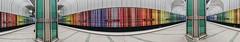 Time Multiplex Tunnel (*Capture the Moment*) Tags: 2015 architecture architektur dynamic dynamik farbdominanz highkey häuserwohnungen innenarchitektur insightview interiordesign munich münchen stationdülferstrasse subway ubahn blau blue red rot