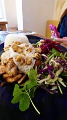 Massey, West Auckland, New Zealand (Sandy Austin) Tags: panasoniclumixdmcfz70 sandyaustin massey westauckland auckland northisland newzealand casablanca restaurant cherkez chicken salad tarator sauce walnut