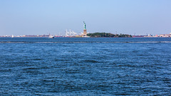 Hudson River (Oleg.A) Tags: sunny newyork landscape manhattan nature water outdoor hudsonriver midday viewpoint libertyisland island seascape blue summer park usa nyc america landscapes noon outdoors