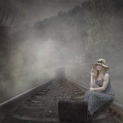 Aimlessly... (emilioramos59) Tags: digitalart photomanipulation conceptual surreal tracks train