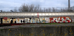graffiti on freighttrains (wojofoto) Tags: freighttraingraffiti freighttrain fr8 cargotrain vrachttrein amsterdam graffiti streetart nederland netherland holland wojofoto wolfgangjosten