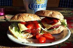 "First BBQ!!! (of the season): April 18, 2018 (With Little ""R"") (Roger Heële) Tags: bbq burgers athome fun garden weber thenetherlands april 18 2018 vvv tourism heerlen heële beef cheeseburger nederland holland"