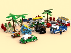 Lego veedub meet (barneysharman) Tags: lego camper vw beetle taxi bug jam volkswagen baja herbie car vehicle moc dub custom minifigure scale splitscreen monster bugjam classic retro bricks
