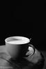 Cappuccino (WillemijnB) Tags: monochrome black blackandwhite bw foam wood wooden low key lowkey