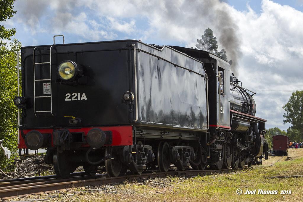 221A_QPSR_Bundamba_2 (JLT007) Tags: ipswich queensland australia train  steam locomotive railway rail qpsr