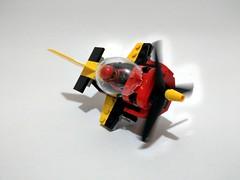 Lego 60144 Race Plan - mini scale (c_s417) Tags: lego 60144 city 2017 race plane mini scale alternative brick build mod
