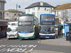 Squeezing Through! Teignmouth, 06/04/18 (aecregent) Tags: teignmouth 060418 stagecoachsouthwest scania n230ud enviro400 15863 wa62anp 22 hop22 18384 mx55kse