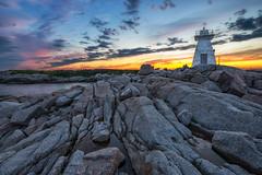 Terence Bay Sunset (B.E.K. Photography) Tags: terence bay nova scotia sunset lighthouse sky clouds sunlight rocks water ocean sea outdoor landscape longexposure nikond600 nikon173528