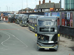 20180416 Blackpool Rail Replacement (blackpoolbeach) Tags: blackpool transport palladium bus railreplacement north railway station railroad