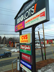 Webster Commons (jjbers) Tags: webster commons massachusetts shopping plaza march 24 2018 road sign big lots hardware cvs pharamcy papa ginos rent center fast food aubuchon