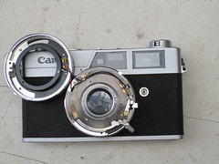 Canonet ql19 old (zaphad1) Tags: canonet ql19 ql 19 old type style repair lens disassembly shutter oiling stuck jammed aperturembly