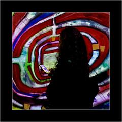 Série Atelier des Lumières : N°11  - Connexion - (Jean-Louis DUMAS) Tags: artistic peintre peinture abstract abstrait abstraction artistique artiste art woman fille girl femme people personne