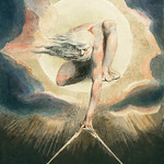 Ancient of Days Setting a Compass to the Earth (1794) illustration from Europe: a Prophecy by William Blake (1752-1827). thumbnail