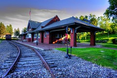 Wausau Depot (Tom Mortenson) Tags: depot geotagged centralwisconsin traindepot wausau wisconsin wausauwisconsin marathoncounty usa america northamerica midwest station trainstation building railroad railroadstation railroaddepot hdr photomatix tonemapping 1740l canon canoneos digital railroadtracks