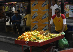 Fruit and vegetable seller (D70) Tags: nikon d70 2885mm f3545 ƒ90 504mm 1320 200 fruit seller aparecida manaus amazonas vegetable freegells carrots melons tomatoes potatoes