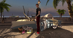 OMG! It's Erebus! (Teddi Beres) Tags: second life sl heels shoe sneakers man car vintage beach summer casual gas clothes clothing fashion style friend