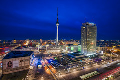 east Berlin (Klaus Mokosch) Tags: lila berlin east bluehour night architektur architecture urban city cityscape longexposure
