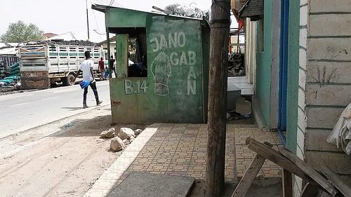 A qat (khat) stall in Borama